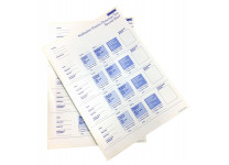 Ninhydrin Protein Detection Test Rec.Sheet (pack of 50)